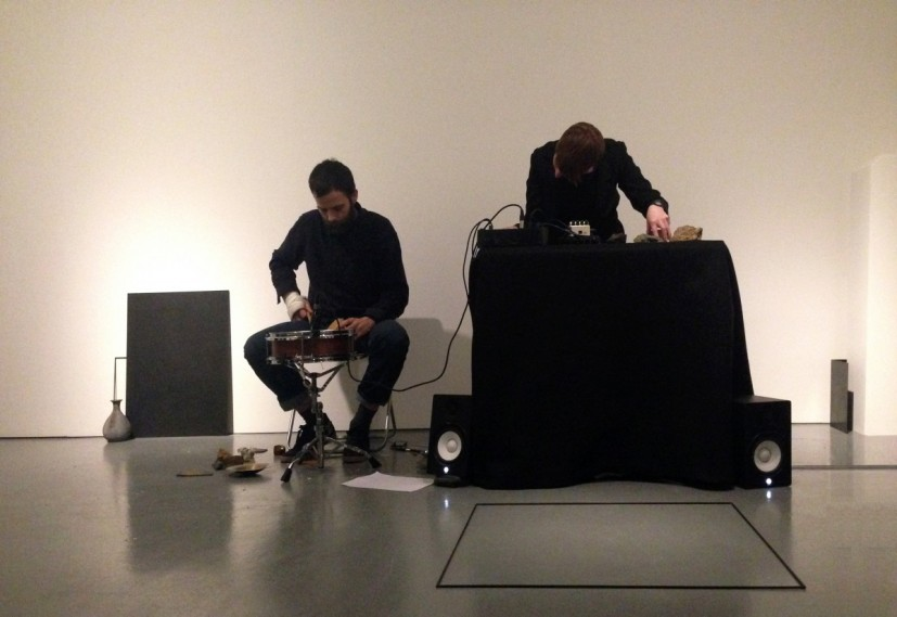 part wild horses mane on both sides, live sound performance, 2014, Rowing, London