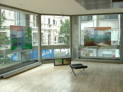 Anthony Gross, Object Passing, installation view at The Economist, 2004. Photo courtesy the artist