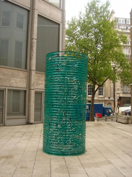 Karen Tang, Four Green Horsemen, The Economist Plaza, 2006. Image courtesy the artist