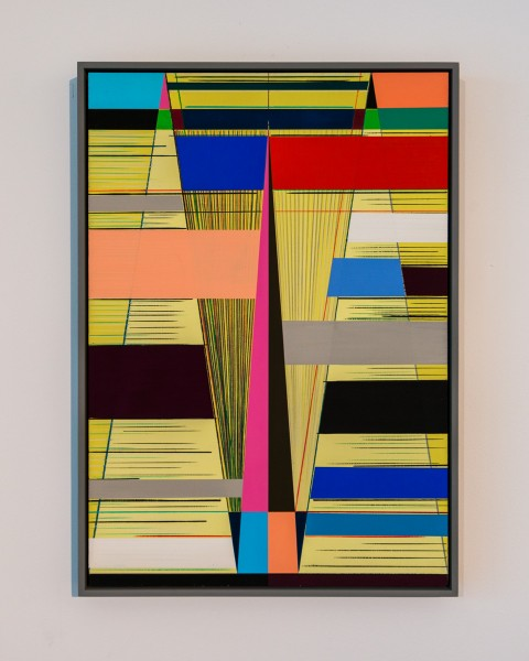 PROJECT 07: Lothar Götz, Untitled, gouache and colour pencil on board, 50 x 35cm, 2010. Photo: Joe Plommer, 2014