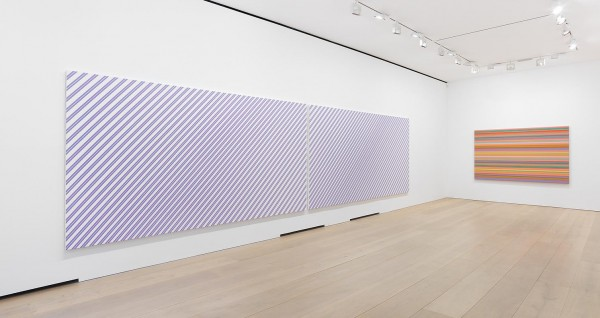 Bridget Riley, Elysium, 2003/1973, acrylic on linen, 261 x 236cm. Image courtesy David Zwirner, © the artist.