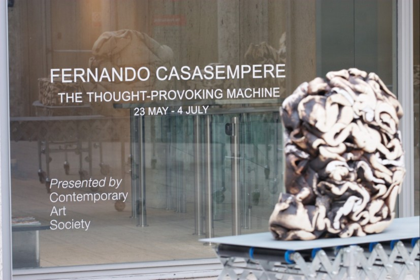 Fernando Casasempere, The Thought-Provoking Machine, The Economist Plaza, 2008. Photo: Matthew Blaney