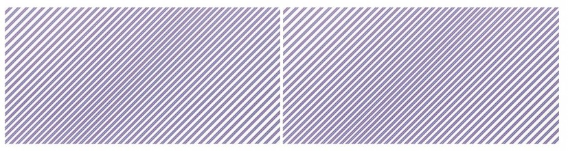 Bridget Riley, Prairie, 2003/1971, acrylic on linen, two panels, overall: 196.9 x 786.2 cm, each: 196.9 x 393.1 cm. Private collection © Bridget Riley 2014. All rights reserved. Courtesy David Zwirner, London