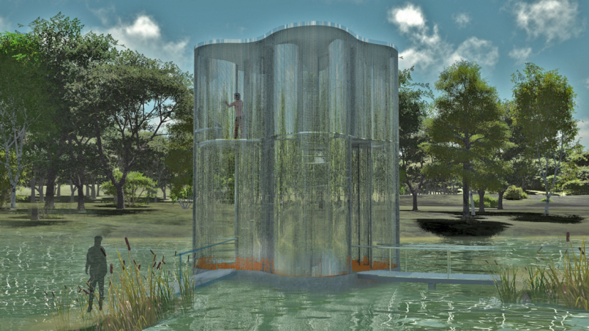 Artist Impression, Fata Morgana Tea House, North West Cambridge courtesy of Winter & Hoerbelt
