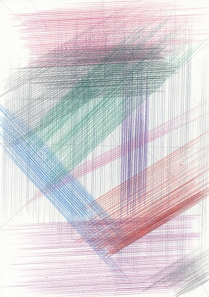 Lothar Götz, Untitled, pencil and colour pencil on paper, 29cm x 21cm, 2014. Image courtesy: DOMOBAAL, © the artist
