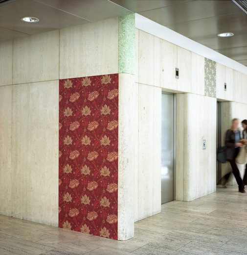 David Mabb, The Hall Of The Modern, installation at The Economist Building, 2003