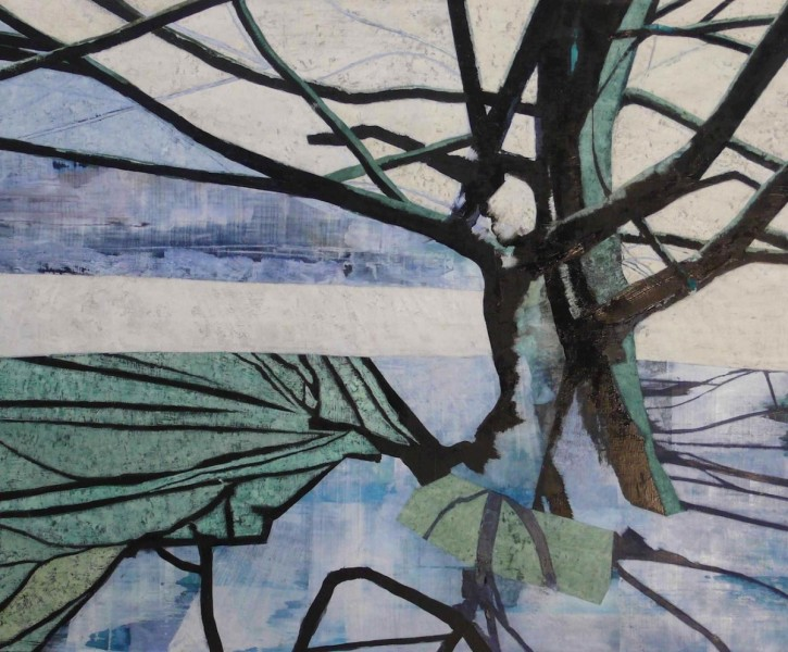 Hampstead Tree, oil on canvas, 148 x 178cm, 2014. Image courtesy the artist, © the artist