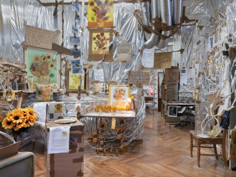 Thomas Hirschhorn, Indoor Van Gogh Altar, 2014. Photo: Stefan Altenburger
