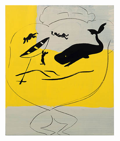 Walter Swennen, Tattoe, 2014, acrylic on canvas, 119.8 x 100cm. Image courtesy the artist and The Approach, London