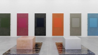 Untitled (Marble, copper & aluminium box sculpture diptych), 2013. Installation view, Galerie Eva Presenhuber, Zurich, 2013. Courtesy the artist and Galerie Eva Presenhuber. Photo: Stefan Altenburger Photography, Zurich