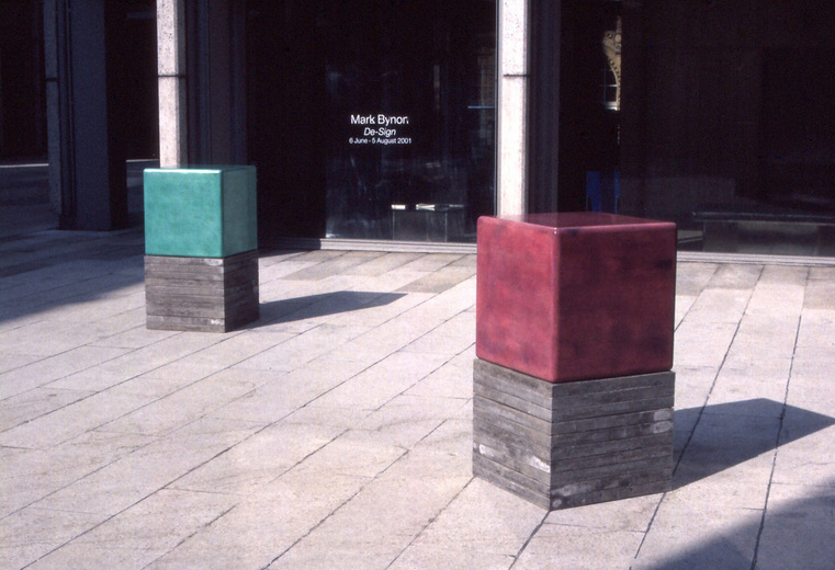 Mark Bynon, De-Sign, installation at the Economist Plaza, 2001. Image courtesy the artist