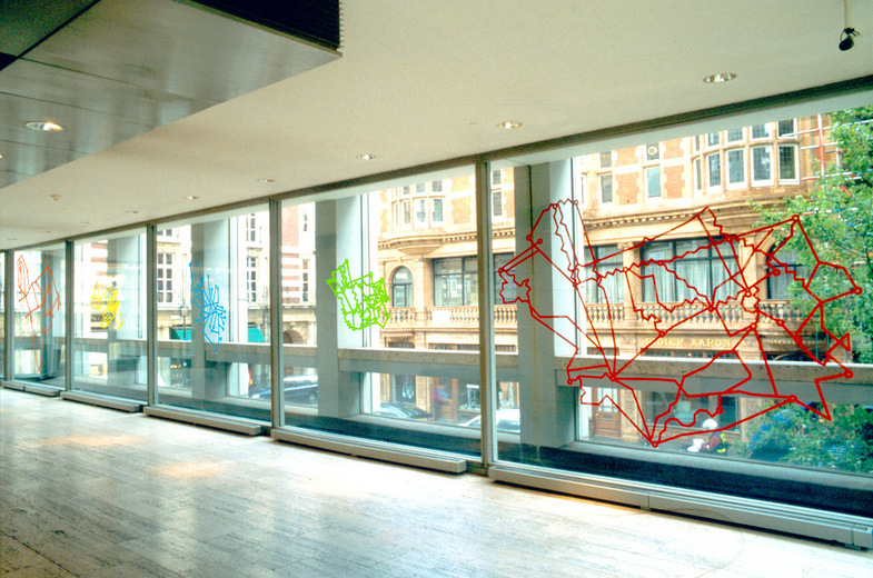 Michael Pinsky, In Transit, 2000, installation at the Economist Building. Image courtesy the artist