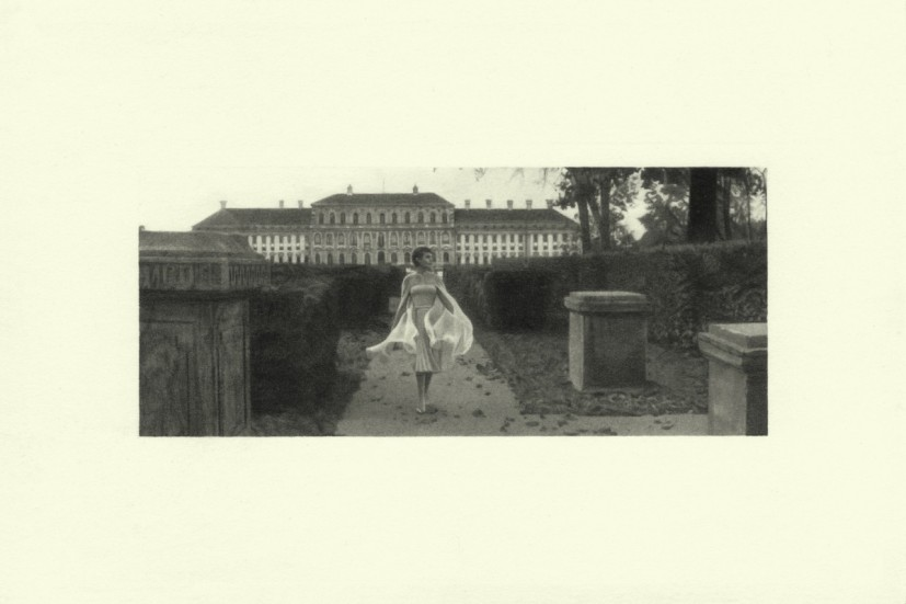Maze, from the Marienbad series, pencil on paper, image size 4.45 x 10.4cm, paper size 10 x 15cm, 2015. Image courtesy the artist and Alan Cristea, London, © the artist