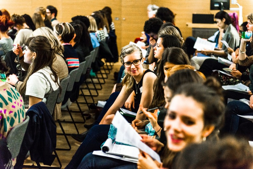 Taking Up Space: Women Only Shows – A discussion. An East London Fawcett Group Talk in partnership with the Contemporary Art Society and Central Saint Martins. Curated and chaired by artist Rose Gibbs at Central Saint Martins, University of the Arts London, Granary Building, 1 Granary Square, London N1C 4AA on 30 September 2014. Photo: Joe Plommer