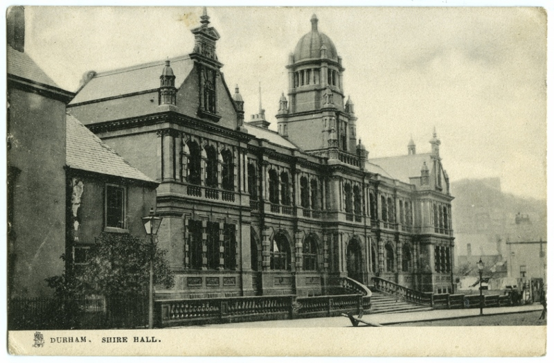 Postcard image of the Old Shire Hall, Durham