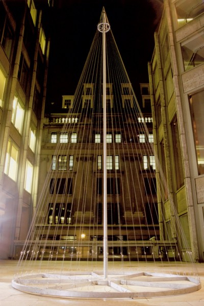 Victoria Rance, Spire, 2000, installation at the Economist Plaza. Photo courtesy the artist