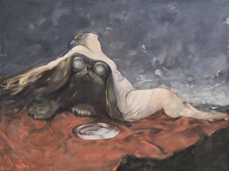 Dorothea Tanning, Reality, 1973-83, oil on canvas, © The Estate of Dorothea Tanning. Courtesy The Dorothea Tanning Foundation and Alison Jacques Gallery, London. Photograph: Michael Brzezinski