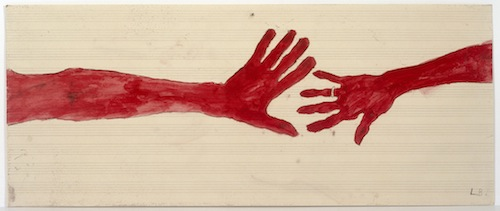 Louise Bourgeois 10 AM IS WHEN YOU COME TO ME, 2006 (detail) Etching, watercolor, pencil, gouache on paper, 20 pages Each about: 37.1 x 89.5 cm. ARTIST ROOMS Tate and National Galleries of Scotland. Lent by the Artist Rooms Foundation 2013 Photo: Christopher Burke, © The Easton Foundation/Licensed by DACS
