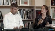Raphael Hefti in conversation with Filipa Ramos, still from film recording by This Is Tomorrow, 2014
