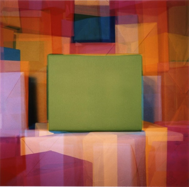 John Hilliard, Four Faces of Green, 2003, c-type print on aluminium, 128 x 127cm. © John Hilliard. Courtesy Richard Saltoun Gallery