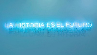 Uriel Orlow, The Future is History / History is the Future, Neon, Dimensions variable, 2012. Courtesy the artist