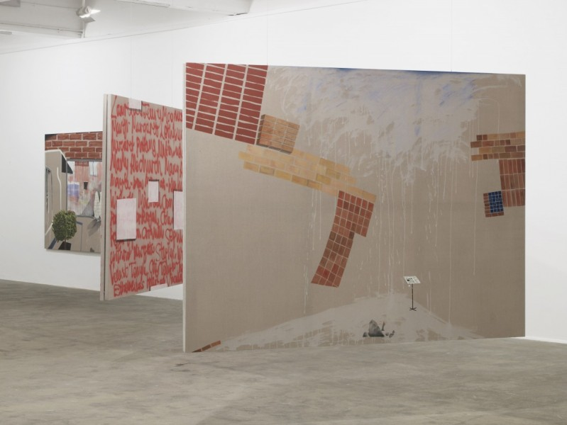 Caragh Thuring, exhibition view, Chisenhale Gallery, 2014. All works 2014. Commissioned by Chisenhale Gallery. Courtesy the artist and Thomas Dane Gallery. Photo: Andy Keate.