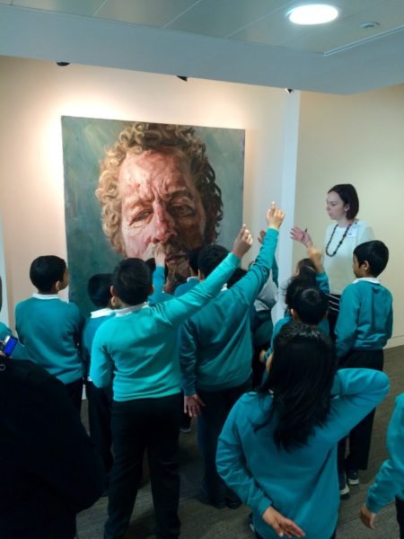 Pupils from Avenue Primary School with Lanny Walker of the Contemporary Art Society, 2016