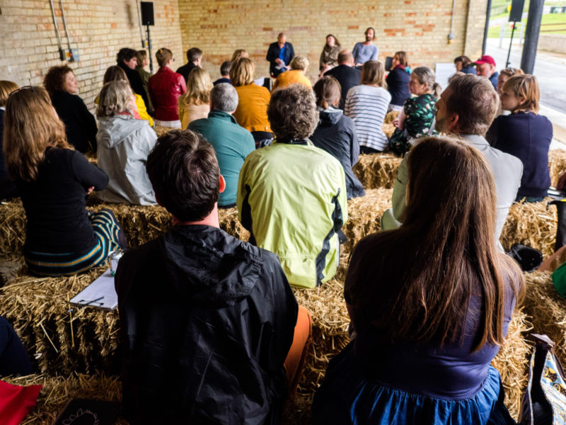 North West Cambridge Development Art Programme,2015-2016 Artists in Residence Discussion. Photo courtesy of Joe Plommer