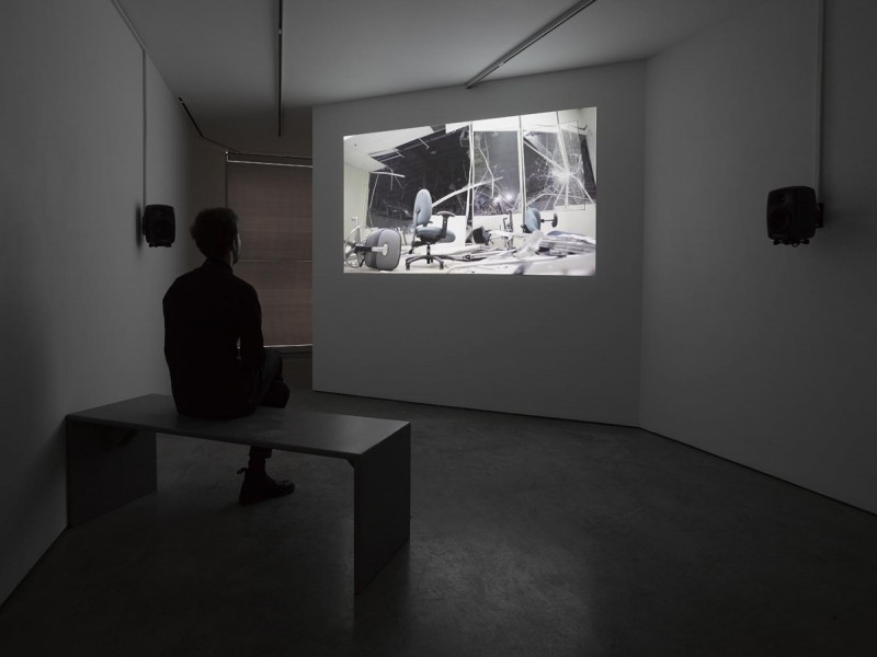 Allora & Calzadilla, The Bell, the Digger, and the Tropical Pharmacy, HD video on DVD, 20 minutes 39 seconds, 2014. Cross Section of a Revolution, installation view, 2015. © the artists, Courtesy Lisson Gallery.