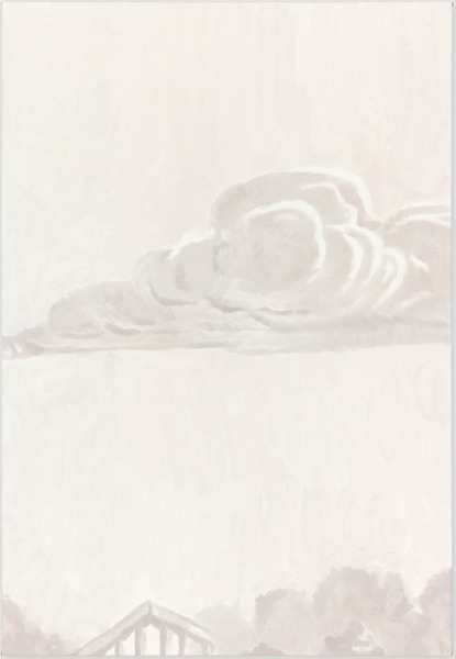 Luc Tuymans, Cloud, oil on canvas, 201.7 x 138.8 cm, 2014. Courtesy David Zwirner, New York/London