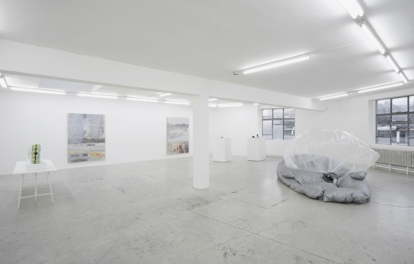 La Mer Insomniaque, installation view with Natalie Häusler, Margo Wolowiec, Eric Sidner, Laura Bartlett Gallery, London, 2015. © the artists; Courtesy Laura Bartlett Gallery, London. Photo: Andy Keate