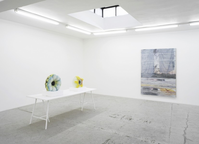 La Mer Insomniaque Installation view with Eric Sidner, Margo Wolowiec, Laura Bartlett Gallery, London, 2015. © the artists; Courtesy Laura Bartlett Gallery, London. Photo: Andy Keate
