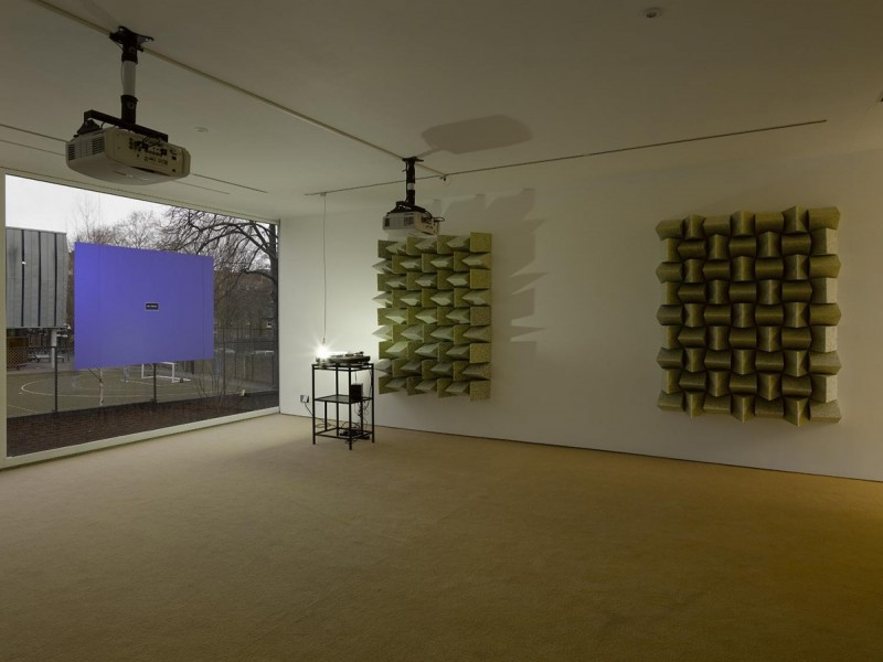 Haroon Mirza, Cross Section of a Revolution, 2011, mixed media, dimensions variable. Cross Section of a Revolution, installation view, 2015. Courtesy Lisson Gallery. © Haroon Mirza; Courtesy Lisson Gallery