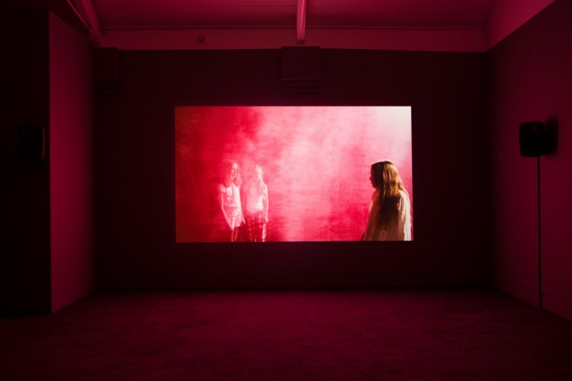 Marianna Simnett, Blood, 2015, installation view at Jerwood Space as part of the Jerwood FVU Awards 2015. Image courtesy of the artist, photographer: Anna Arca