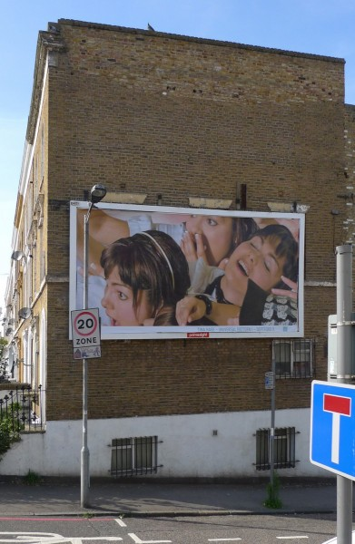 Universal Pattern I, billboard poster, installation view from Deptford X, London 2012.  Image courtesy the artist, © the artist