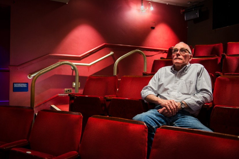 Richard Wentworth CBE  with his newly commissioned works for the Lyric Hammersmith, London, 2015. Photo: Joe Plommer
