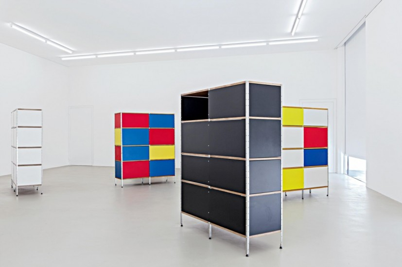 Martin Boyce, Now I've Got Real Worry, For 129 Fear View Lane, You Are Somewhere Inside, White Disaster, 2000. Cranford Collection, London,  Toby Webster, Glasgow, Sammlung Haubrok, Berlin, Sammlung Haubrok, Berlin. Photo: Museum für Gegenwartskunst, Gina Folly