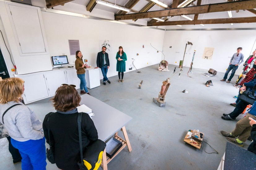 Aid & Abet talk with Contemporary Art Society's Maeve Polkinhorn, The Soft Landscape, preview, from GRAVEL: notes from the other side of the fence, 28-30 May 2015. Photo: Joe Plommer