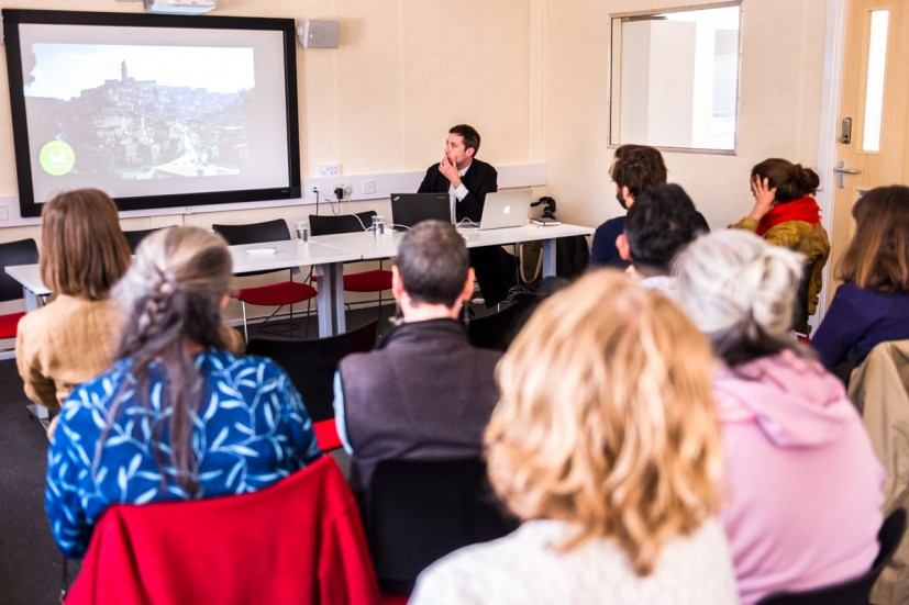 Ben Vickers at Fernando Garcia Dory's symposium, from GRAVEL: notes from the other side of the fence, 28-30 May 2015. Photo: Joe Plommer