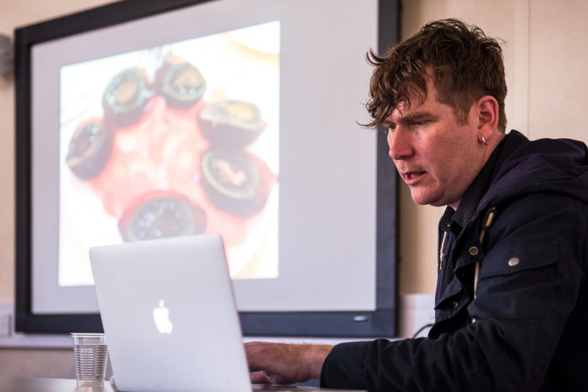 Artists in Residence Bedwyr Williams presents work developed during his 2014-2015 Residency at University of Cambridge's North West Cambridge Development, from GRAVEL: notes from the other side of the fence, 28-30 May 2015. Photo: Joe Plommer