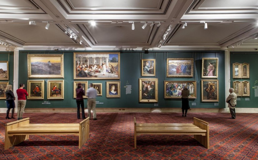 Guildhall Art Gallery, London, interior view. Image courtesy Guildhall Art Gallery
