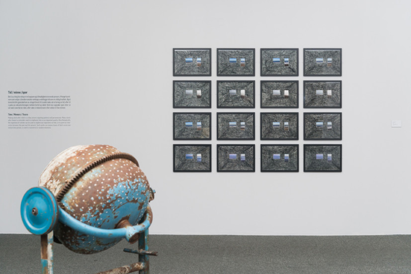 Feria, 16 photos/stitching, 2013. Installation view at National Art Museum Oslo. Image courtesy the artist, ©  the artist