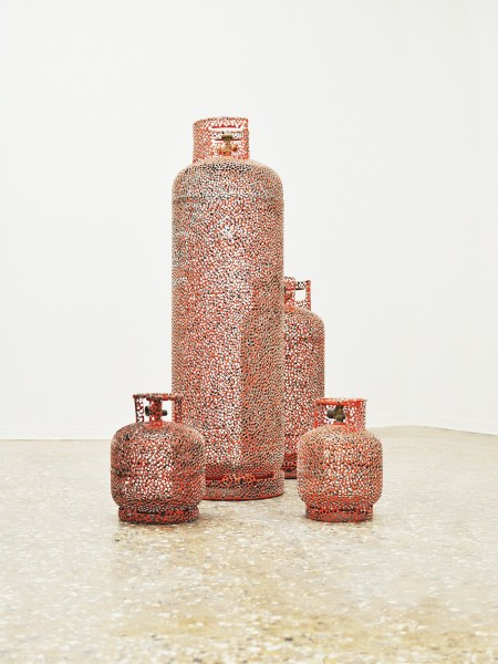 Propane Dream, modified propane cylinders, 120 x 120 x 150cm, 2012. Image courtesy the artist and CØPPERFIELD, London, © the artist