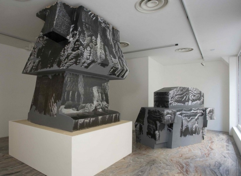 'Sacrifice' Installation view, Swallow Street, London, 2010. Cardboard, photocopies, dimensions variable. Image courtesy Carl Freedman Gallery, London and the artist, © the artist