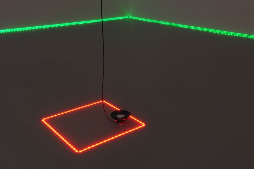 Haroon Mirza, Acid Reign, 2012. Installation shot, Ernst Schering Foundation, Berlin. Photo Uwe Walter, courtesy hrm199 Ltd., © Schering Stiftung