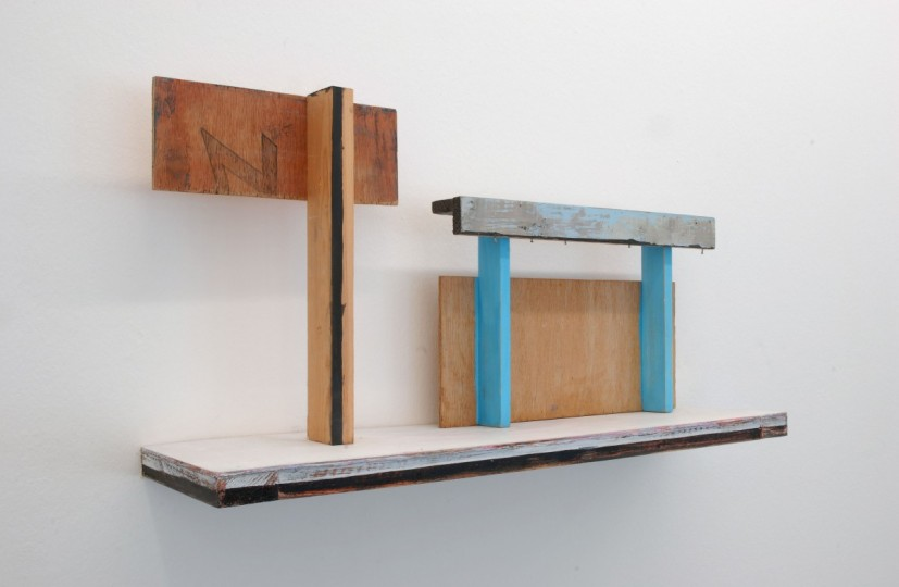 Things Have Changed, acrylic paint, wood, 61 x 16 x 32cm, 2009. Image courtesy the artist, © the artist