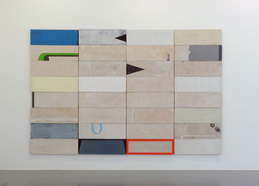 To The Left, acrylic paint, wood, 244 x 360cm, 2009.  Image courtesy the artist, © the artist