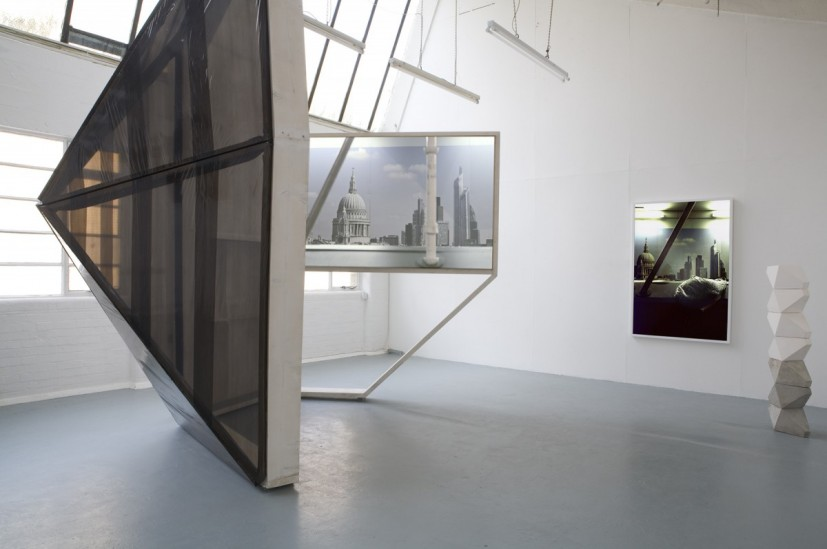 London Winterreise, installation view, with Keef Winter. Image courtesy the artist, © the artist