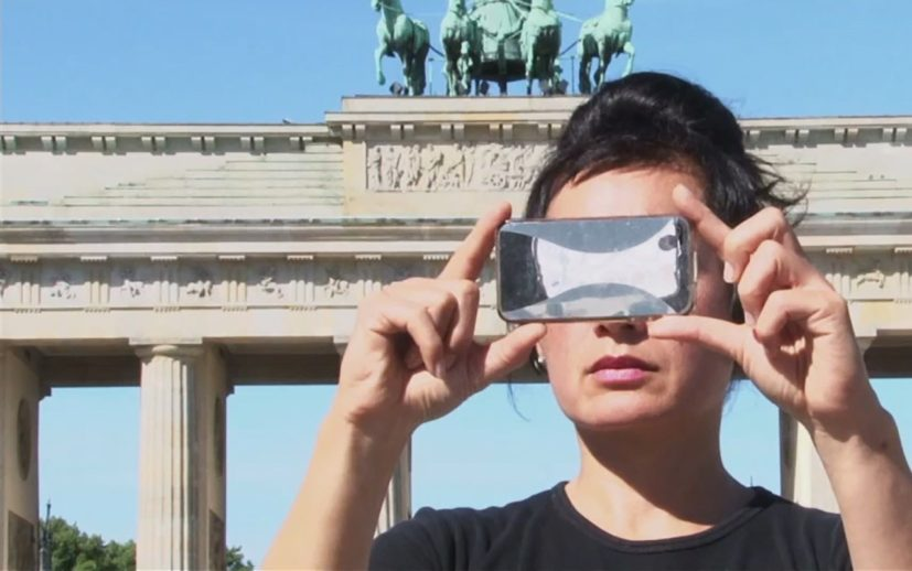 Hito Steyerl, 'Abstract', 2012, Double screen two channel HD video with sound, 7 minutes and 30 seconds. Edition of 7, with 2 APs. Presented to GoMA by the Contemporary Art Society through the Collections Fund, 2016.