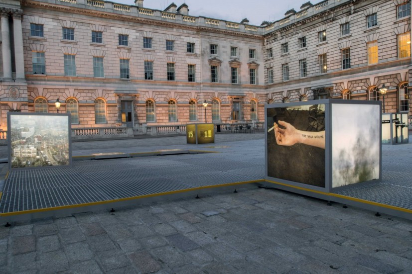 The Teaser, installation view at Somerset House, London, 2015.  Image courtesy the artist, © the artist